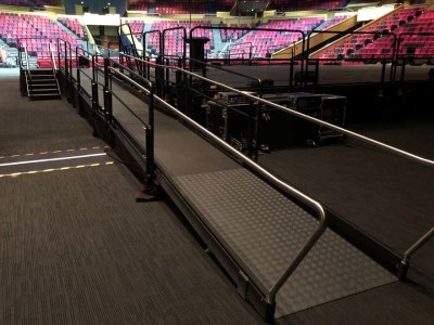 Wheelchair all access ramp hire in stadium